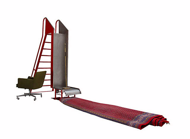 rutsche teppich stuhl